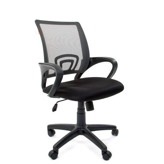Кресло оператора Chairman 696 black сетка/ткань серый/черный