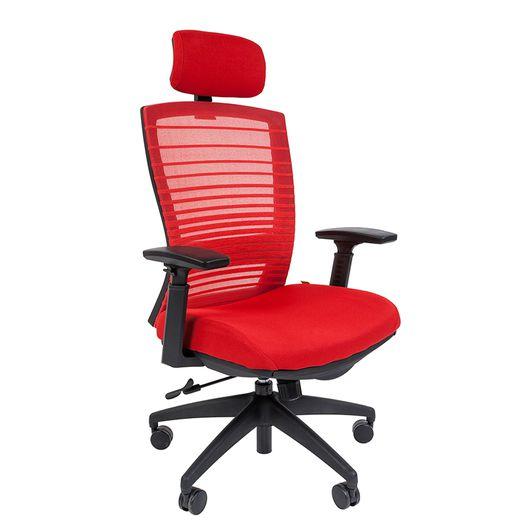 Кресло руководителя Chairman 285 сетка/ткань красный