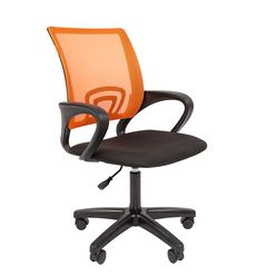 Кресло оператора CHAIRMAN 696 LT сетка оранжевая/ткань черная