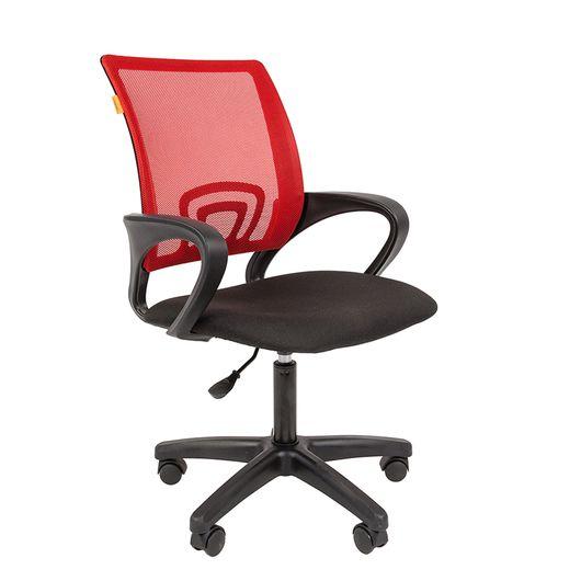 Кресло оператора Chairman 696 LT сетка/ткань красный/черный