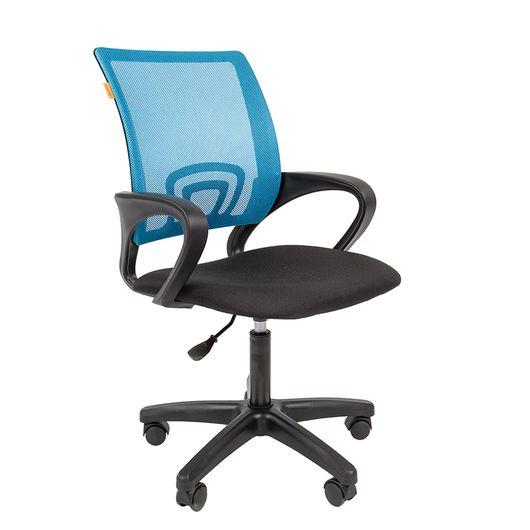Кресло оператора CHAIRMAN 696 LT сетка голубая/ткань черная