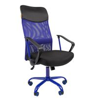 Кресло руководителя CHAIRMAN 610 CMet сетка синяя/ткань черная