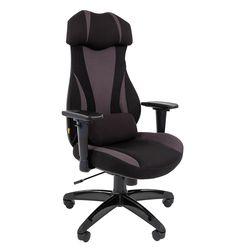 Кресло геймерское Chairman GAME 14 ткань черный/серый