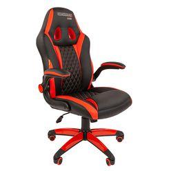 Кресло геймерское Chairman GAME 15 экопремиум черный/красный