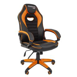 Кресло геймерское Chairman GAME 16 экопремиум черный/оранжевый
