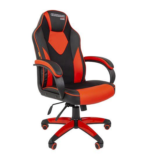 Кресло геймерское Chairman GAME 17 экопремиум черный/красный