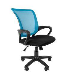 Кресло оператора Chairman 969 сетка голубая/ткань черная