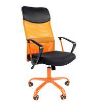 Кресло руководителя CHAIRMAN 610 CMet сетка оранжевая/ткань черная