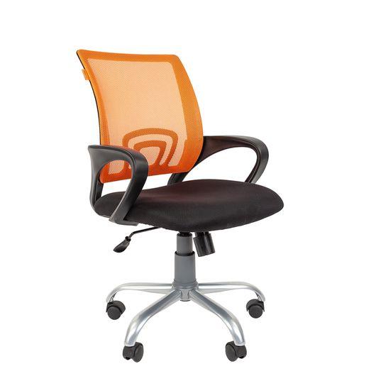 Кресло оператора Chairman 696 Silver сетка/ткань оранжевый/черный