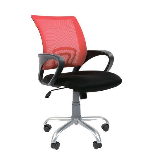 Кресло оператора Chairman 696 Silver сетка/ткань красный/черный
