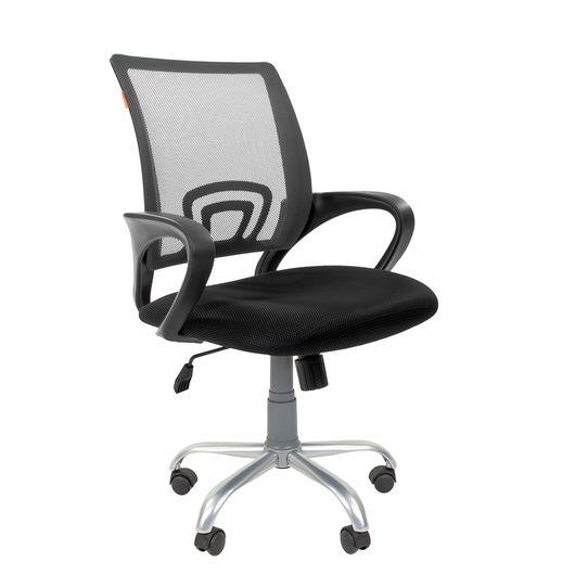 Кресло оператора Chairman 696 Silver сетка/ткань серый/черный