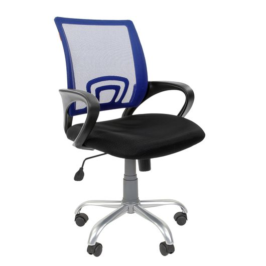Кресло оператора Chairman 696 Silver сетка/ткань синий/черный