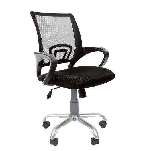 Кресло оператора Chairman 696 Silver сетка/ткань черный