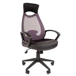 Кресло оператора Chairman 840 black сетка/ткань/экокожа серый/черный