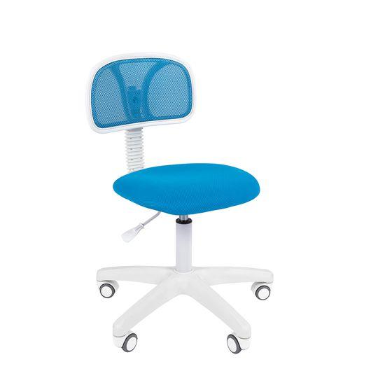 Кресло оператора Chairman 250 White сетка/ткань голубой