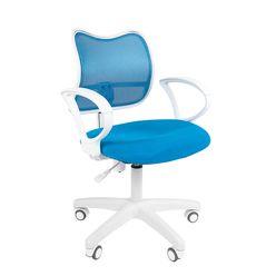 Кресло оператора Chairman 450 LT White сетка/ткань голубой