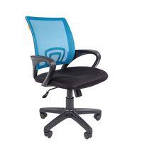 Кресло оператора Chairman 696 black сетка/ткань голубой/черный