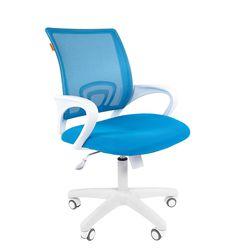 Кресло оператора Chairman 696 white сетка/ткань голубой