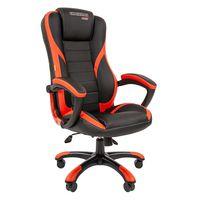 Кресло геймерское Chairman GAME 22 экопремиум черный/красный