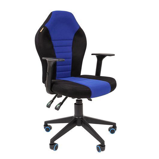 Кресло геймерское Chairman GAME 8 ткань черный/синий