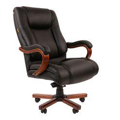 Кресло руководителя Chairman 503 кожа черный