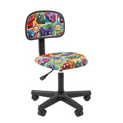 Кресло детское Chairman KIDS 101 black ткань монстры