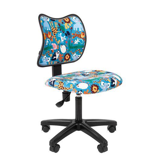 Кресло детское Chairman KIDS 102 black ткань зоопарк