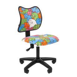 Кресло детское Chairman KIDS 102 black ткань котики