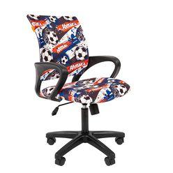 Кресло детское Chairman KIDS 103 black ткань футбол