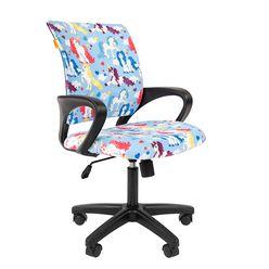 Кресло детское Chairman KIDS 103 black ткань единороги