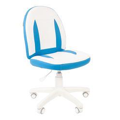 Кресло детское Chairman KIDS 122 экопремиум белый/голубой