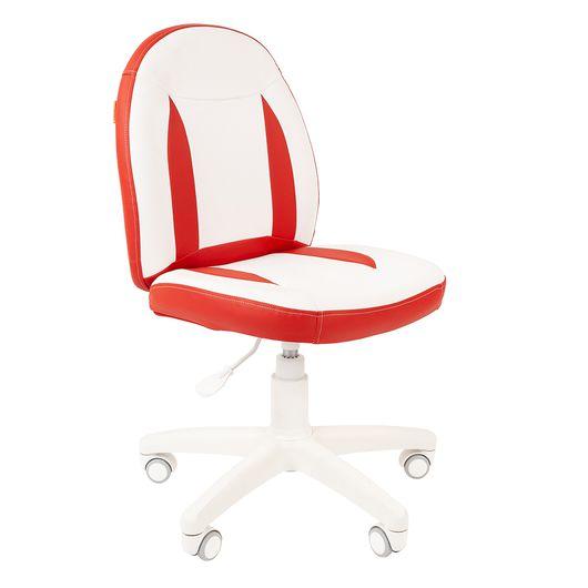 Кресло детское Chairman KIDS 122 экопремиум белый/красный