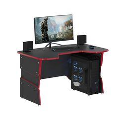 Стол компьютерный Skyland SKILLL STG 1385 антрацит/красный