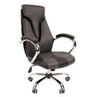 Кресло руководителя Chairman 901 экопремиум черный/серый