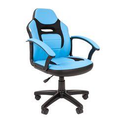 Кресло детское Chairman KIDS 110 экопремиум черный/голубой