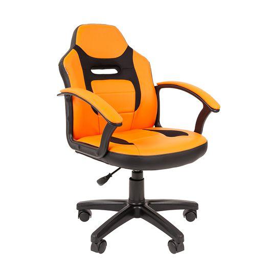 Кресло детское Chairman KIDS 110 экопремиум черный/оранжевый