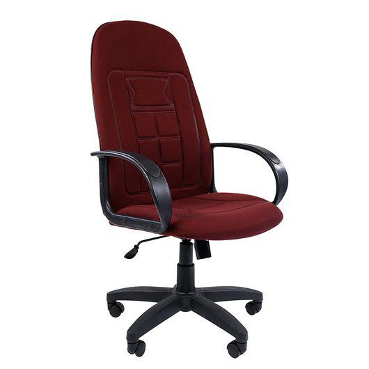 Кресло руководителя Chairman 727 ткань 10-361 бордовый