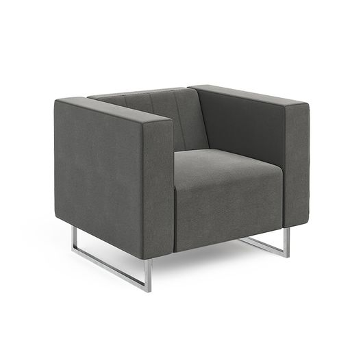 Кресло для отдыха Chairman ВЕНТА Euroline серый