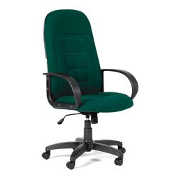 Кресло руководителя CHAIRMAN 727 ткань 10-120 темно-зеленая