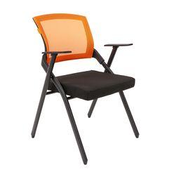 Кресло посетителя Chairman NEXX сетка/ткань оранжевый/черный