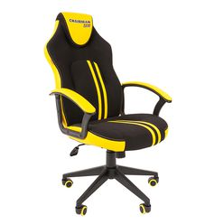 Кресло геймерское Chairman GAME 26 экопремиум черный/желтый